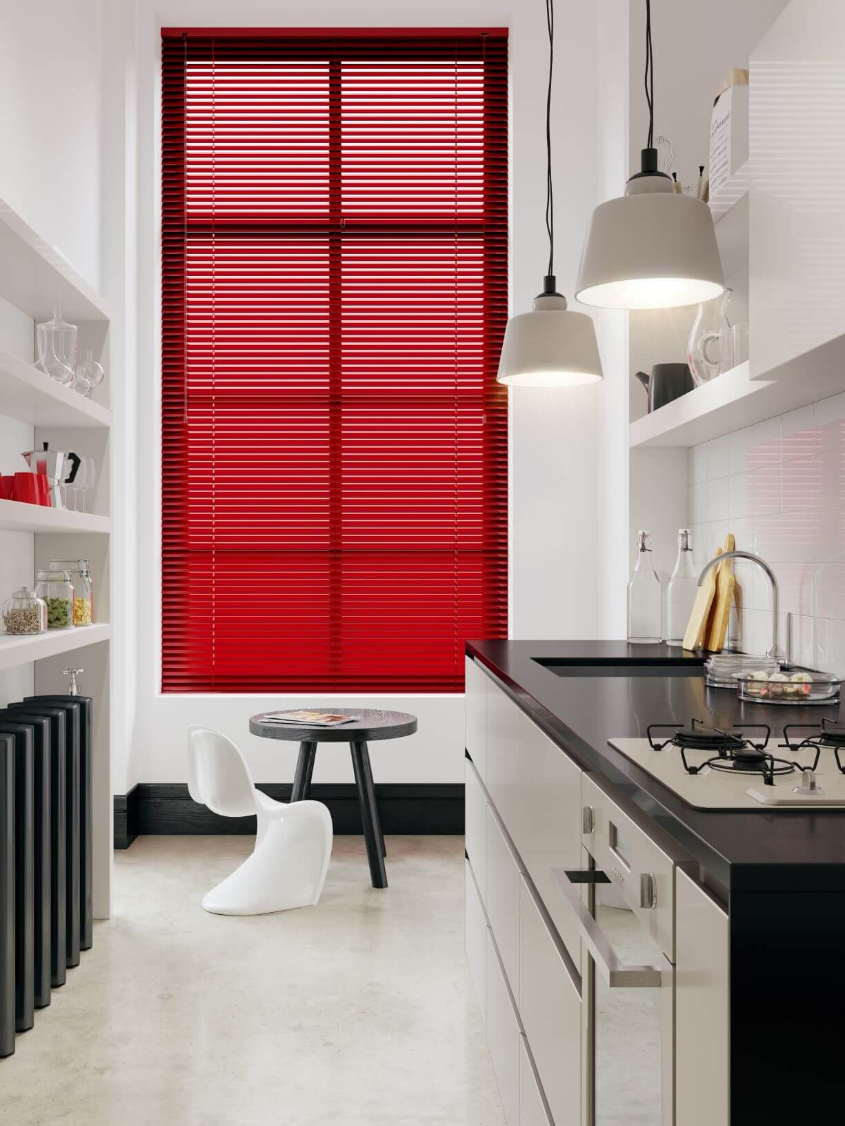 Aluminium Blind Red