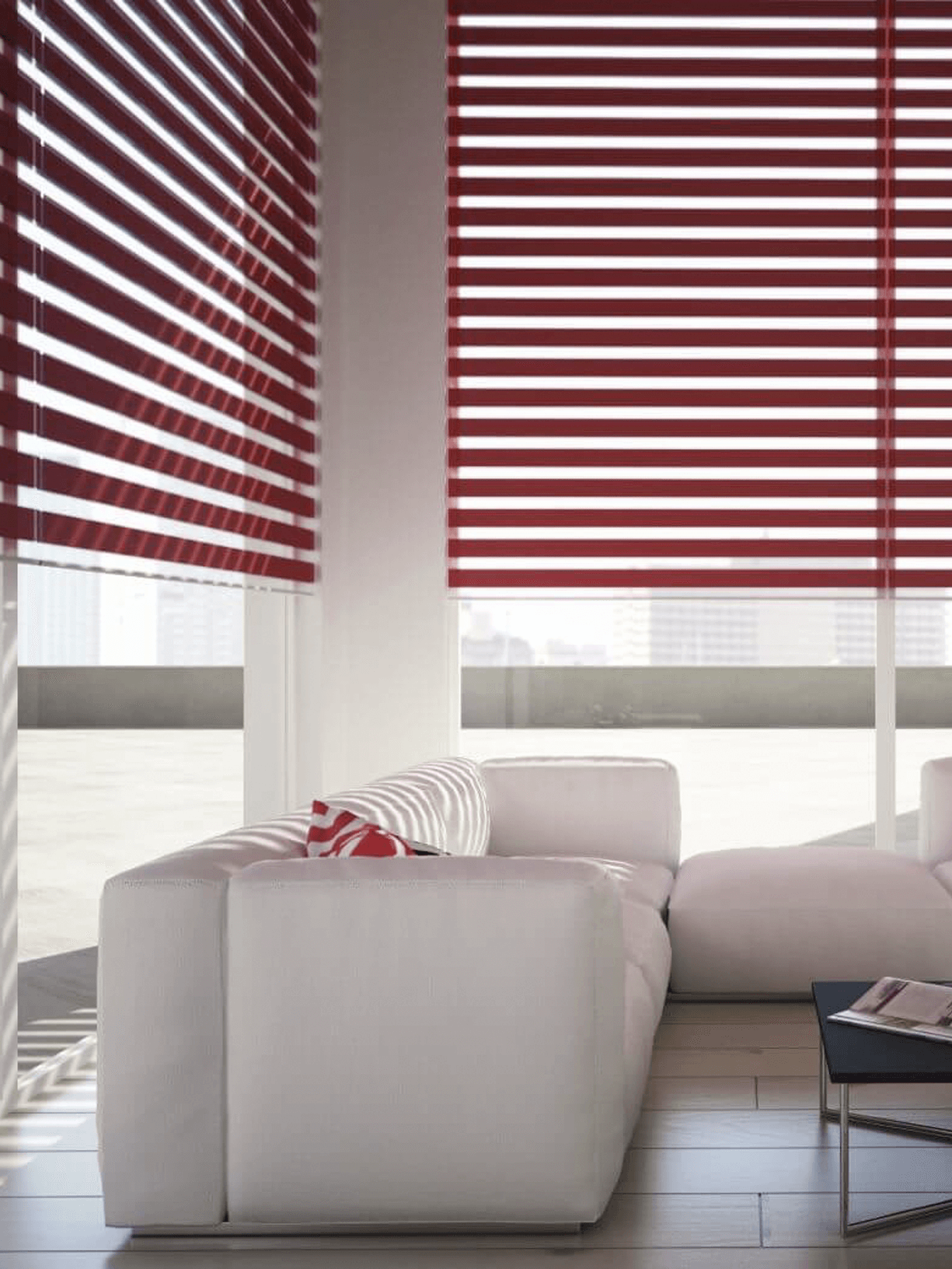 Day & Night Blinds Red